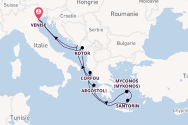 8 jours de navigation à bord du bateau Norwegian Gem depuis Venise