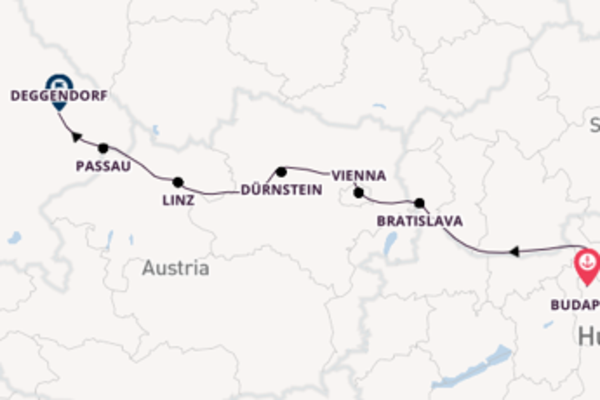 Sailing to Deggendorf from Budapest