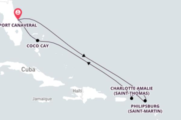 Croisière de 8 jours depuis Port Canaveral avec Royal Caribbean