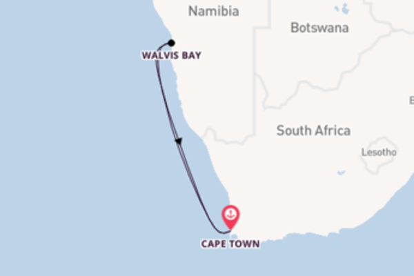 Sailing from Cape Town via Walvis Bay