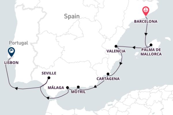 Barcelona to Lisbon with Azamara Quest