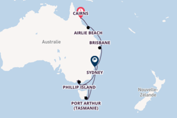 16 jours pour découvrir Hobart (Tasmanie) au départ de Cairns
