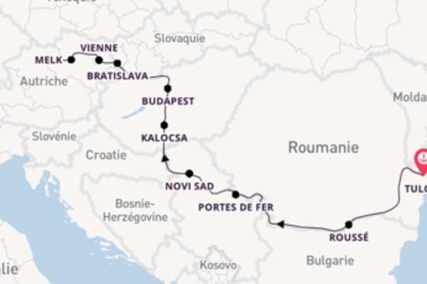 12 jours de croisière spectaculaire de Tulcea à Linz avec le MS Vivaldi