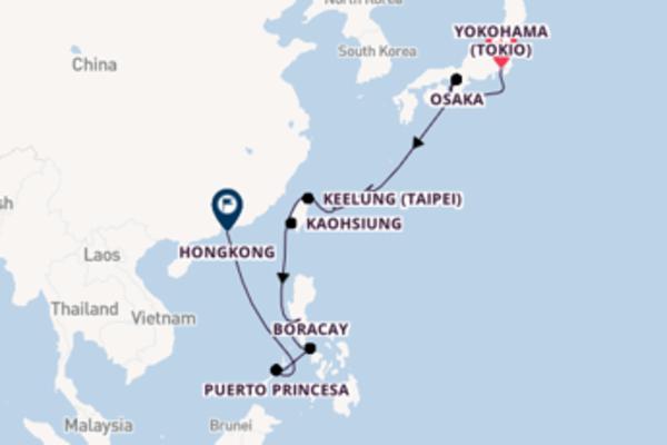 Cruise met Holland America Line naar Osaka