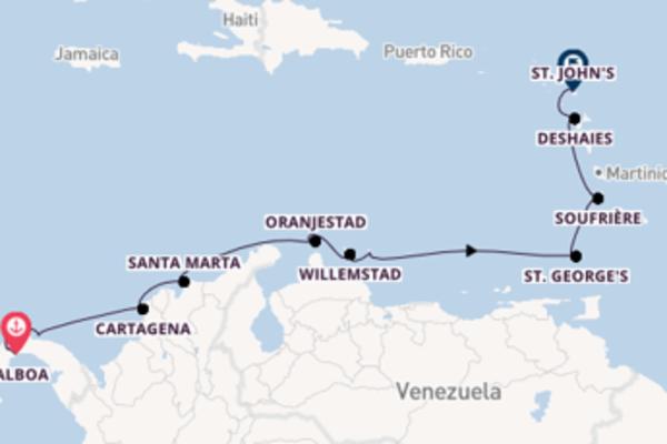 Vaar met de Royal Clipper naar St. John's, Antigua, Antigua en Barbuda