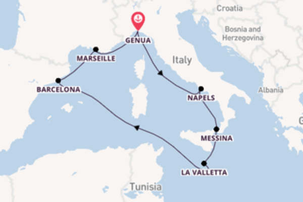 8-daagse cruise met het MSC Seaview vanuit Genua