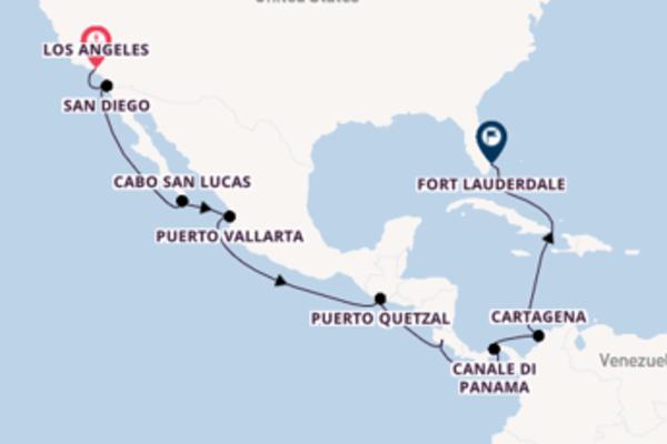 Crociera da Los Angeles verso Canale di Panama