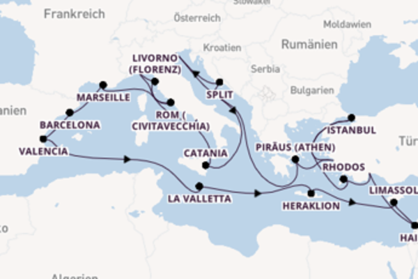 Traumhafte Kreuzfahrt über Venedig nach Savona