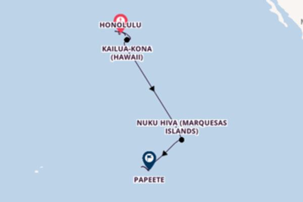 Sailing from Honolulu via Hilo