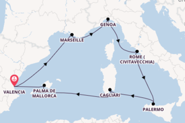 8 day cruise from Valencia