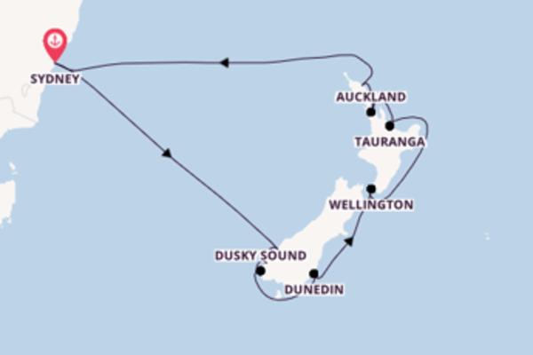 13 jours de navigation à bord du bateau Ovation of the Seas depuis Sydney