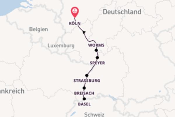 Romantische Rheinfahrt