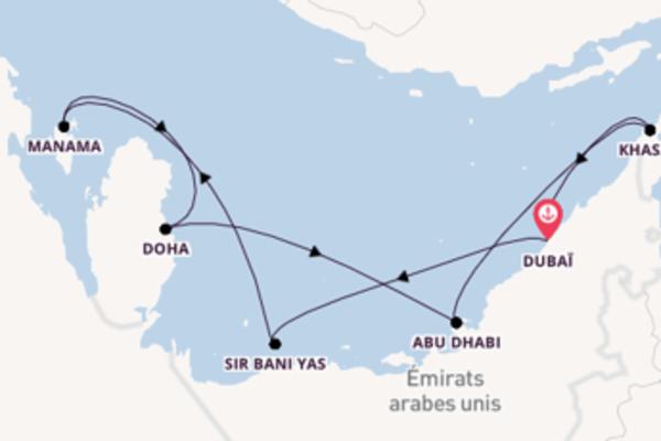 10 jours de navigation à bord du bateau Crystal Esprit depuis Dubaï