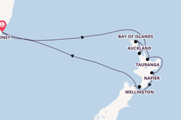 12 day cruise from Sydney
