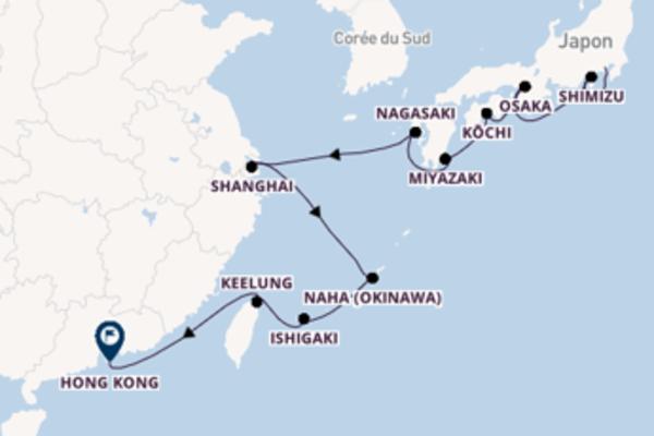 Idyllique virée de 17 jours depuis Yokohama