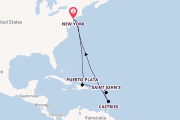 A bordo di Norwegian Gem fino a New York