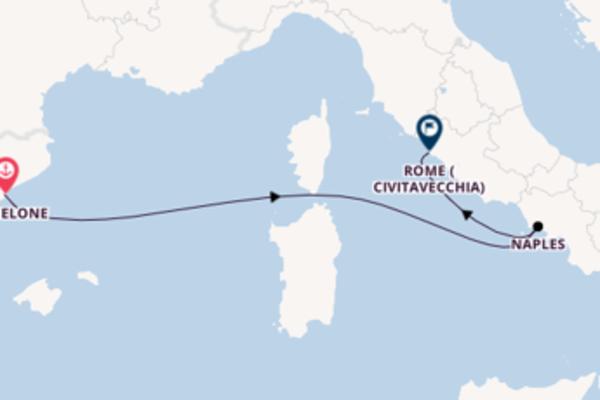 Ressentez à bord du bateau Norwegian Epic, la destination: Naples