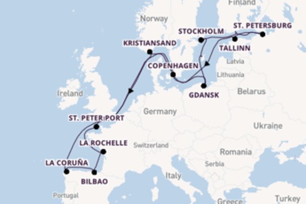 Journey with Princess Cruises from Southampton (London)