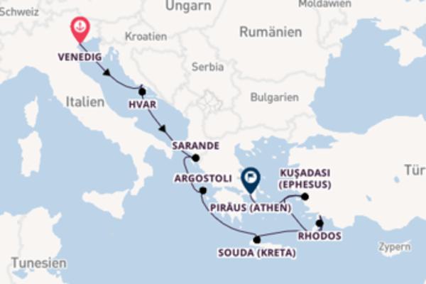 Fantastische Kreuzfahrt über Souda (Kreta) ab Venedig