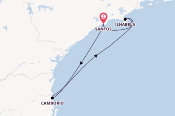 Cruise in 4 dagen naar Santos met Costa Cruises