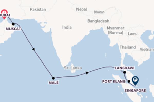 16-daagse reis aan boord van de AIDAcara