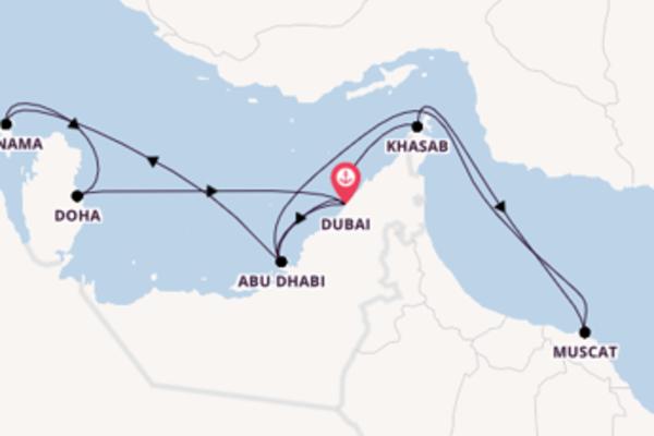 15-daagse cruise naar Manama