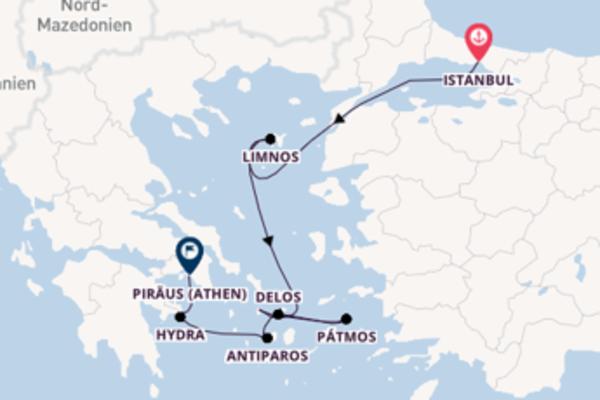 Spannende Kreuzfahrt von Istanbul nach Piraeus