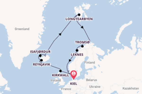 18-daagse cruise naar Isafjørdur