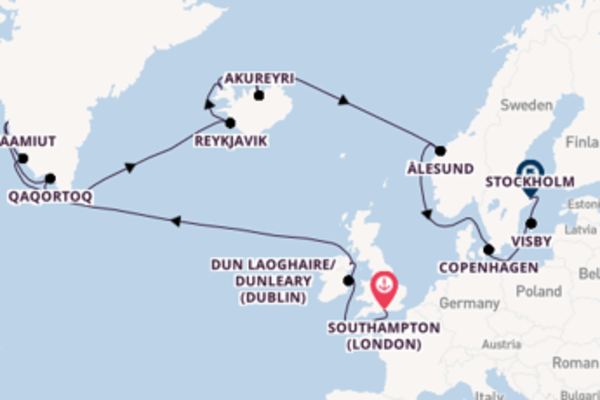 Majestic expedition from Southampton (London) with Oceania Cruises