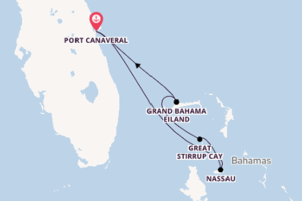 5-daagse droomcruise vanuit Port Canaveral
