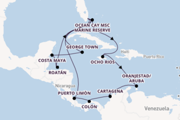 19 day voyage on board the MSC Divina from Miami