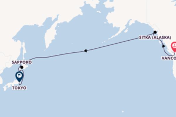 Ligne de changement de date, depuis Vancouver à bord du bateau Celebrity Solstice