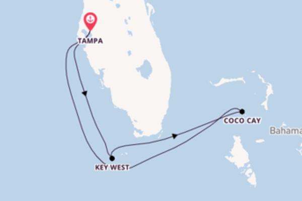 6 day cruise with the Brilliance of the Seas to Tampa