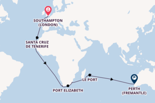 Cruising with Cunard from Southampton to Perth