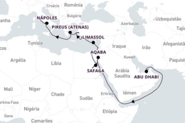 Fascinante viagem de 23 dias a bordo do Norwegian Dawn