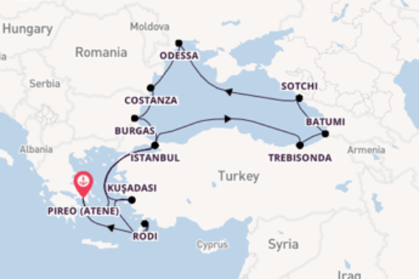 Scopri Trebisonda arrivando a Pireo (Atene)