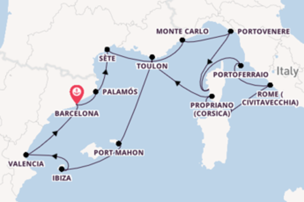 Cruising from Barcelona with the Seabourn Sojourn