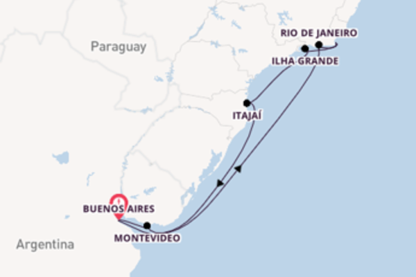 Cruise from Buenos Aires with the MSC Sinfonia