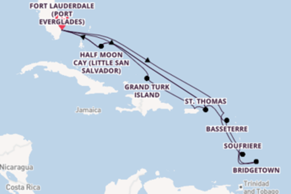 Iconic cruise from Fort Lauderdale (Port Everglades) with Holland America Line