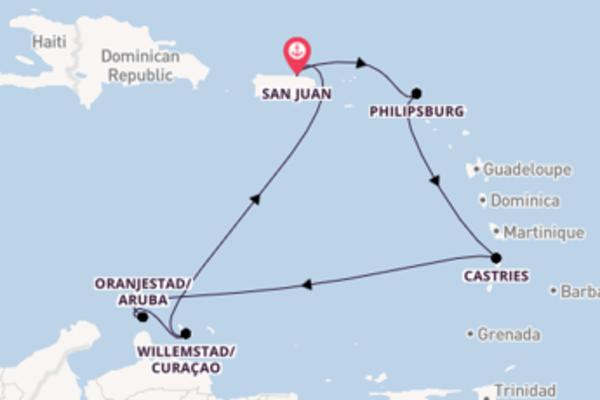 Sailing from San Juan via Castries