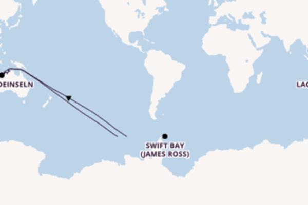 Spannende Kreuzfahrt über Hunter River (Mitchell Falls) nach Darwin