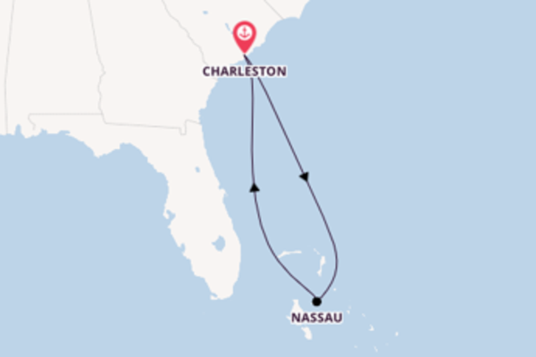 5 day cruise with the Carnival Sunshine to Charleston