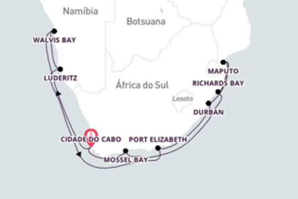 Divina viagem até Cidade do Cabo