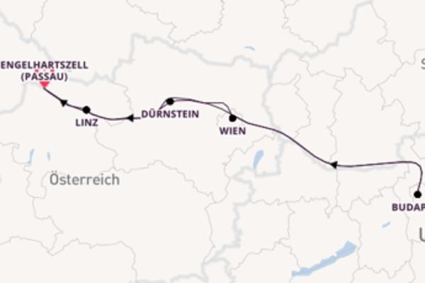 In 8 Tagen nach Engelhartszell (Passau) über Dürnstein