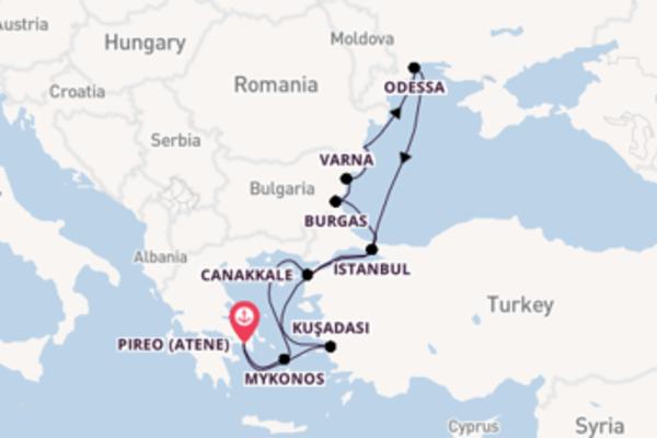 Viaggio da Pireo (Atene) verso Mykonos