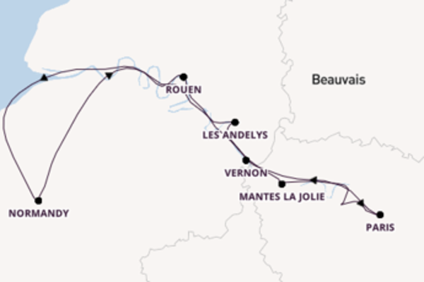 Cruising from Le Pecq via Normandy