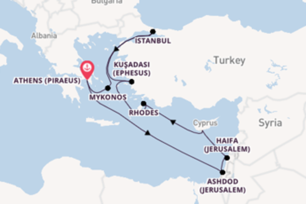 10 day cruise with the Norwegian Jade to Athens (Piraeus)