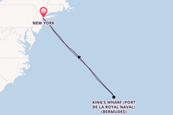 Joyeuse croisière vers New York via King's Wharf (Port de la Royal Naval) (Bermudes)