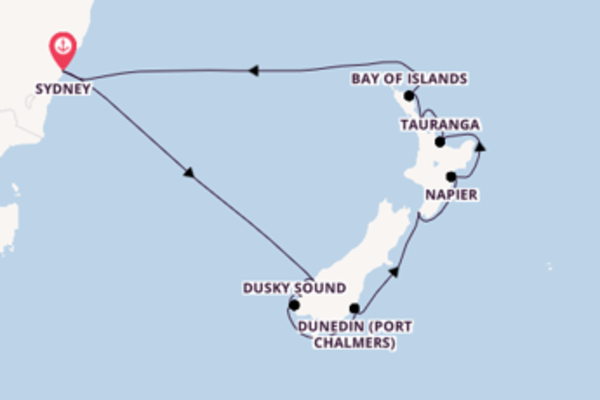 14 day cruise with the Ovation of the Seas to Sydney