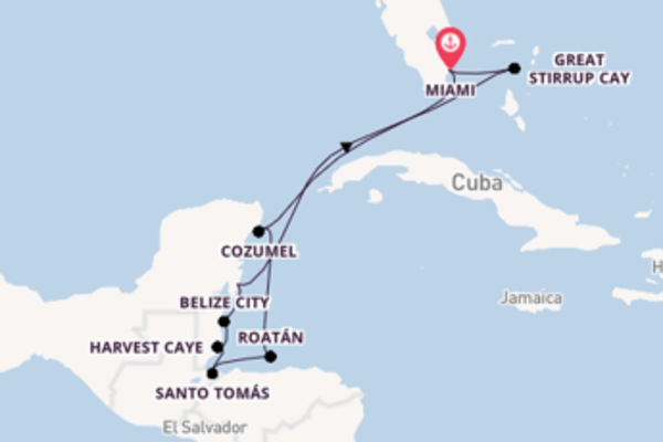 Cruise in 11 dagen naar Miami met Oceania Cruises